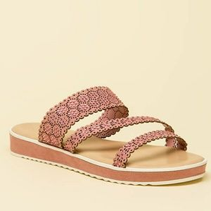 Strappy Jeweled Slide Sandals
